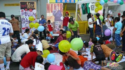anak-anak Indonesia berlomba melukis wajah Indonesia